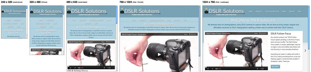 DSLR Solutions - DSLR Follow Focus Mobile Responsive Design