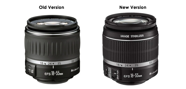 Canon 18-55mm Lens - Old Version & New Version