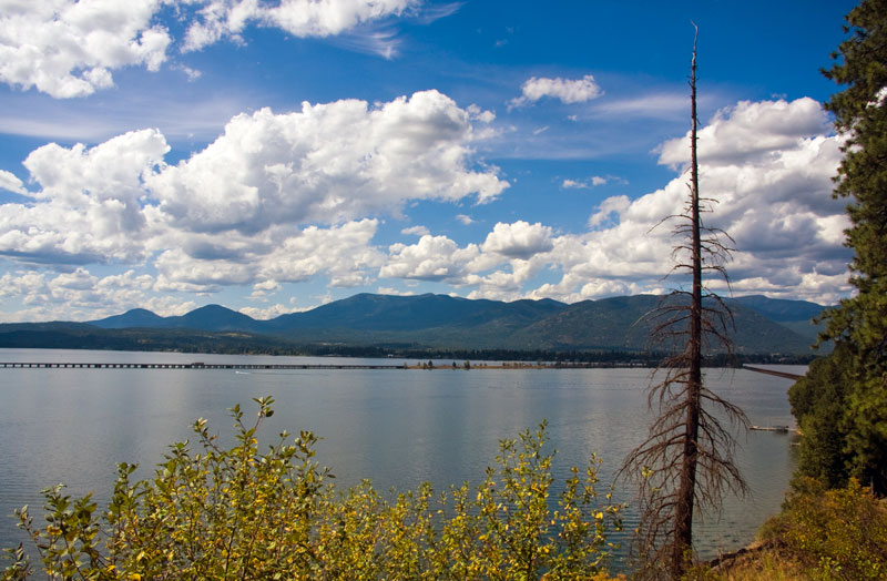 Sandpoint, Idaho - Lake Pend Oreille - Long Bridge