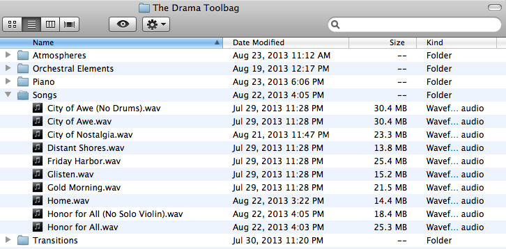 Neumann Films Drama Toolbag Folder Structure