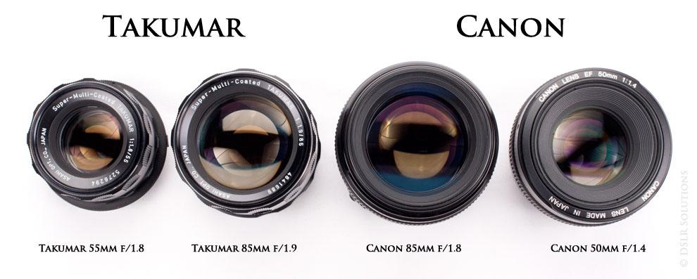 Takumar 55mm & 85mm -- Canon-85mm & 50mm