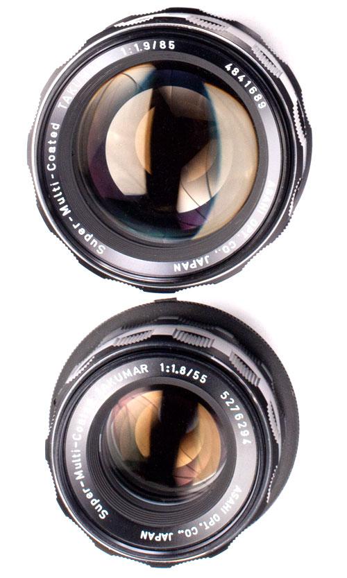 Takumar 85mm Lens & Takumar 55mm Lens