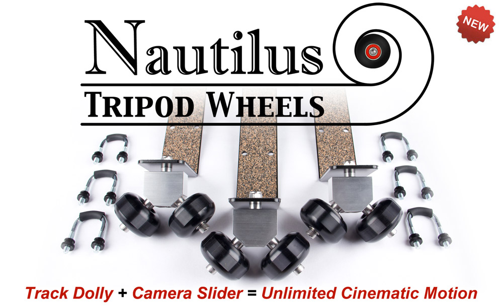 Nautilus Tripod Wheels - Track Dolly & Camera Slider